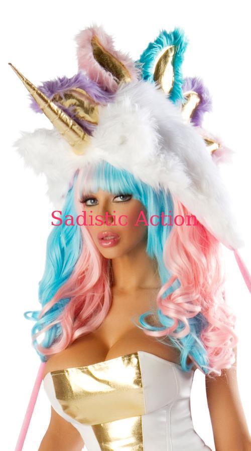 【即納】J. Valentine Deluxe Unicorn Hood 【ハロウィンコスチューム】【コスチュームアクセサリー】【ハット、帽子】【JV-ACC-JJ101】