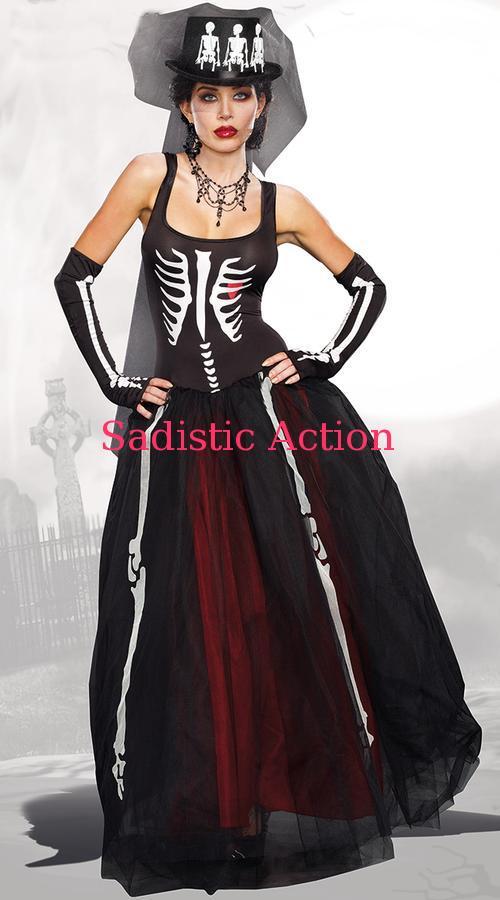 【即納】Dreamgirl Ms. Bones Skeleton Costume 【ハロウィンコスチューム】【Dreamgirl(コスチューム、ランジェリーー、フェティッシュ)】【DG-CO-9903】