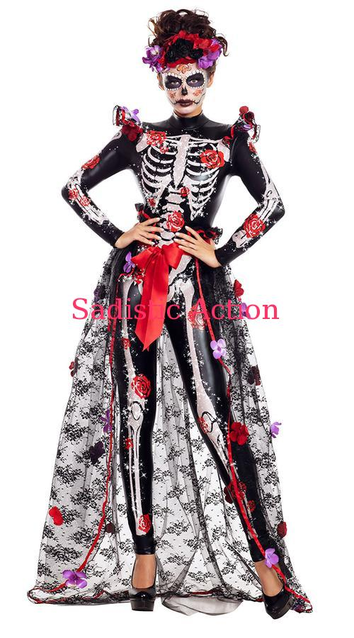 PARTY KING Dead To Me 大決算セール Costume メキシカンスカルコスチューム おトク 即納 PK-CO-PK2053 コスチュームアクセサリー コスチューム 衣装 ハロウィンコスチューム