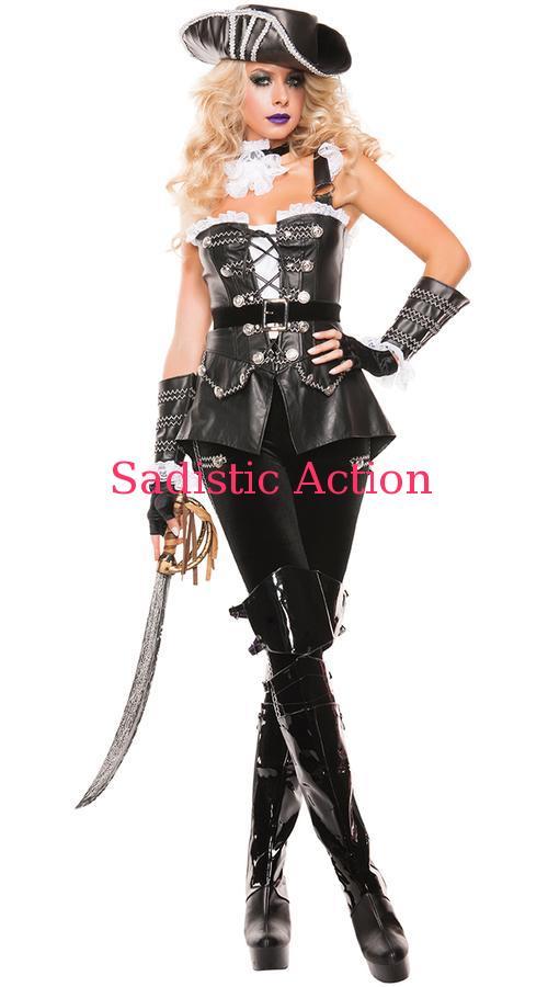 【ハロウィンコスチューム】【STARLINE 【即納】STARLINE Leather Costume Pirate Deluxe (コスチューム、ランジェリー、衣装)】【SL-CO-S5152】