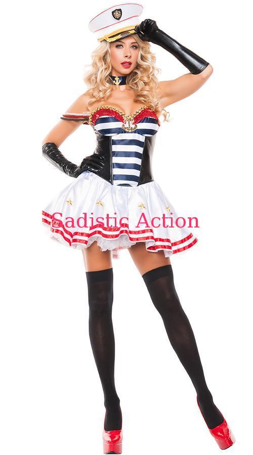 【即納】STARLINE Mistress Sailor Costume 【ハロウィンコスチューム】【STARLINE (コスチューム、ランジェリー、衣装)】【SL-CO-S5155】
