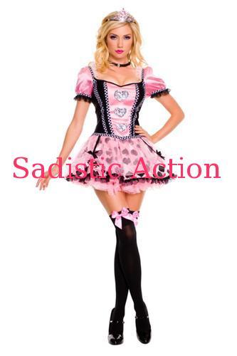 【即納】MUSIC LEGS Pink couture queen of heart 【ハロウィンコスチューム】【MUSIC LEGS (ストッキング、ランジェリー、コスチューム)】【MU-CO-70304】