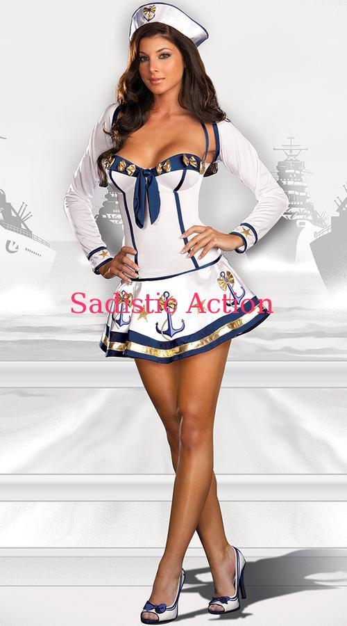 【即納】Dreamgirl Makin' Waves Sailor Costume 【ハロウィンコスチューム】【Dreamgirl(コスチューム、ランジェリーー、フェティッシュ)】【DG-CO-5985】