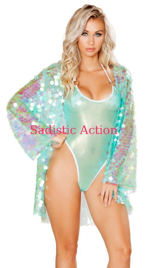 【即納】ROMA 1pc Iridescent Sequin Robe 【ROMA (ダンスウェア、衣装、コスチューム、小物)】【トップス】【RM-DW-3571】