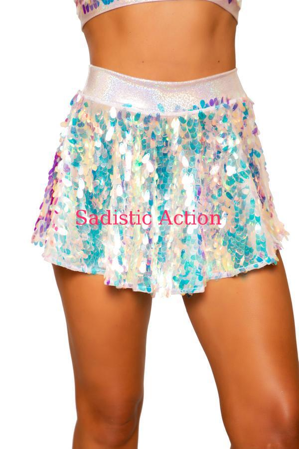 【即納】ROMA Tear Drop Sequin Skirt 【ROMA (ダンスウェア、衣装、コスチューム、小物)】【ボトム・スカート】【RM-DW-3758-B.PI】