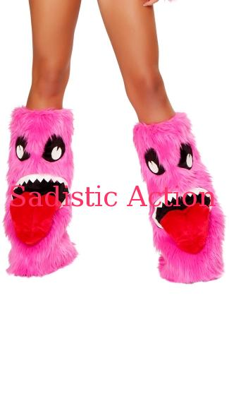 【即納】J. Valentine Pink Monster Leg Warmers 【ハロウィンコスチューム】【コスチュームアクセサリー】【J Valentine(ダンスウェア、衣装、コスチューム、小物)】【レッグウォーマー】【JV-ACC-JJ180】