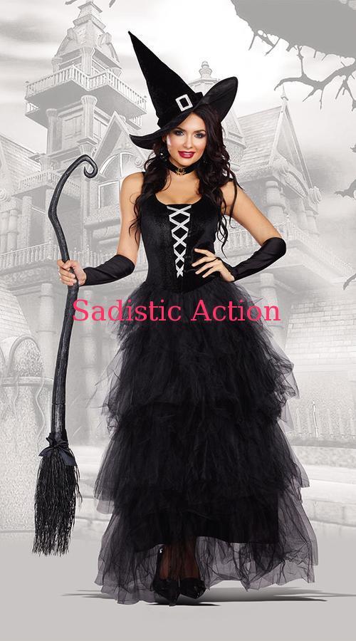 【即納】Dreamgirl Spellbound Witch Costume 【ハロウィンコスチューム】【Dreamgirl(コスチューム、ランジェリーー、フェティッシュ)】【DG-CO-10272】