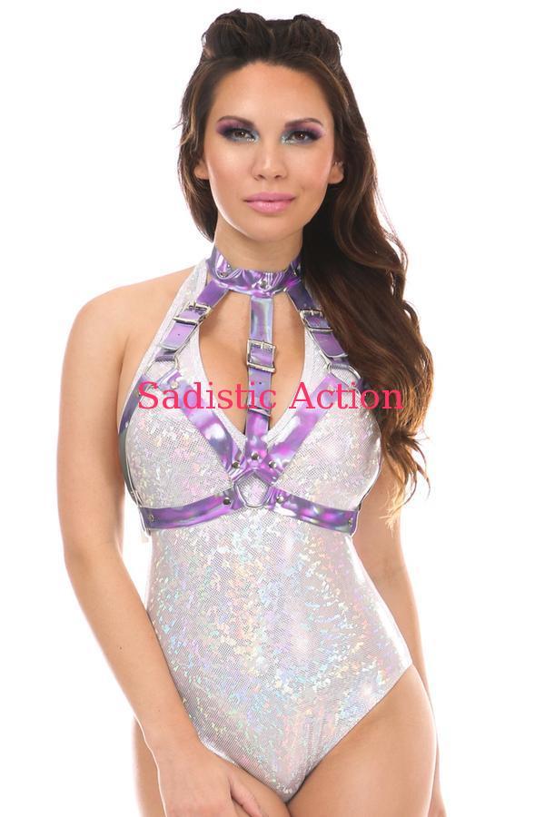 【即納】Daisy Corsets Lavender Holo Body Harness 【コスチュームアクセサリー】【Daisy Corsets (コルセット、コスチューム、ランジェリー、衣装)】【ベルト・ハーネス】【DC-ACC-HAR-144】