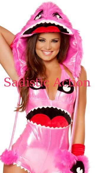 J. Valentine Pink Monster Hood モンスターファーフード 注 フード単品販売です コスチューム等は別売りです The 正規店 features hot pink faux 即納 コスチュームアクセサリー セール fur JV-ACC-JJ179 ダンスウェア 帽子 小物 ハット monste ハロウィンコスチューム with J 衣装 コスチューム