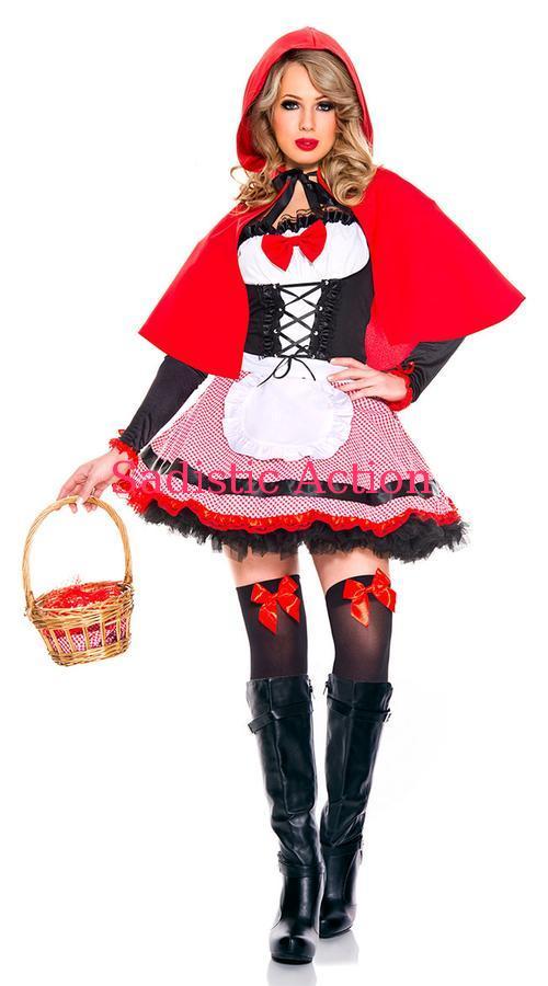 【即納】MUSIC LEGS Sweet Riding Hood Costume 【ハロウィンコスチューム】【MUSIC LEGS (ストッキング、ランジェリー、コスチューム)】【ML-CO-70834】