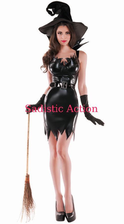 【即納】PARTY KING Liquid Black Witch Costume 【ハロウィンコスチューム】【PARTY KING(コスチューム、コスチュームアクセサリー、衣装)】【PK-CO-PK463】