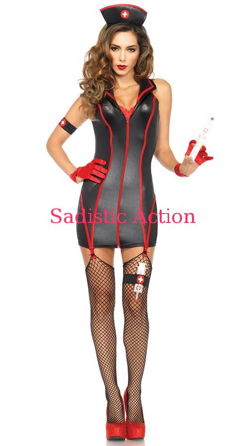 【即納】Leg Avenue Heart Stoppin' RN Costume 【Leg Avenue (ストッキング、ランジェリー、衣装、コスチューム、小物)】【ハロウィンコスチューム】【LEG-CO-85402-BK】