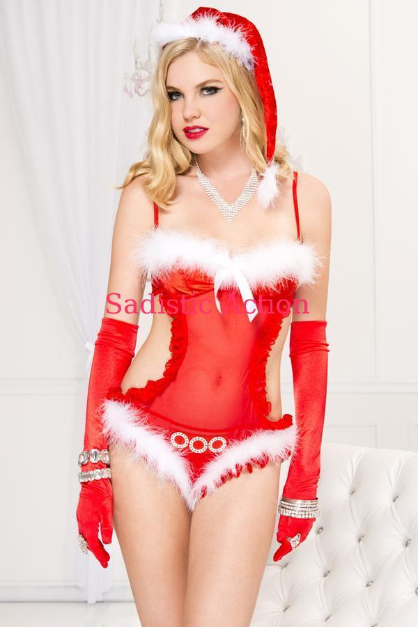 【即納】MUSIC LEGS North Pole Diva 【ハロウィンコスチューム】【MUSIC LEGS (ストッキング、ランジェリー、コスチューム)】【クリスマスコスチューム】【ボディスーツ・テディ】【ML-CR-70584】