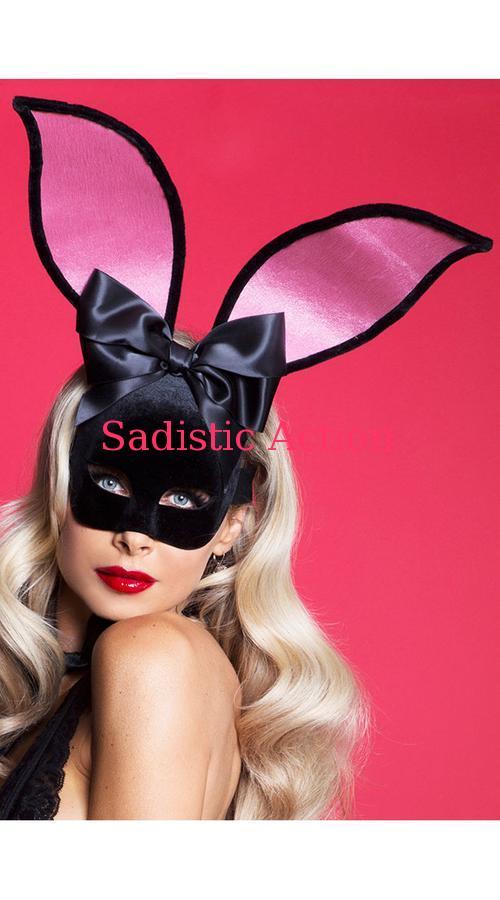 【即納】STARLINE Playtime Bunny Velvet Mask 【ハロウィンコスチューム】【コスチュームアクセサリー】【STARLINE (コスチューム、ランジェリー、衣装)】【フェティッシュ・ボンテージ】【マスク、仮面、ヘッドピース】【SL-ACC-A6300】
