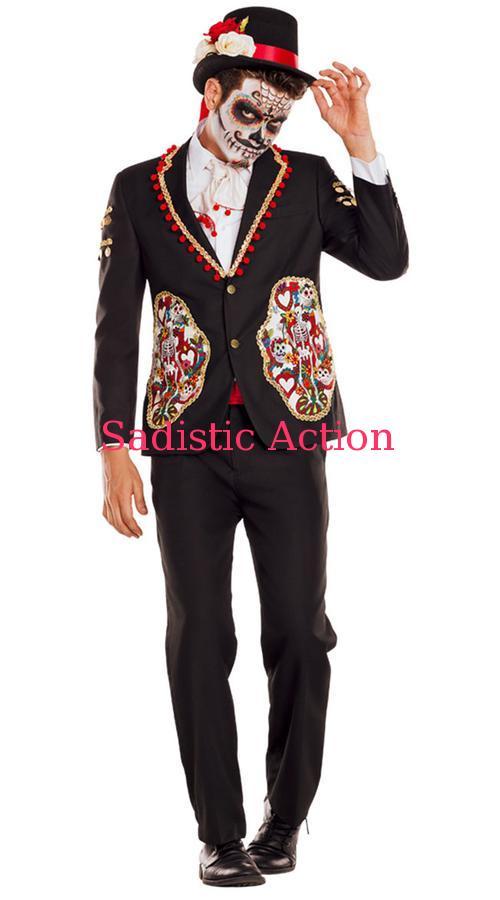 【即納】PARTY KING Men's La Novio Adult Costume 【ハロウィンコスチューム】【PARTY KING(コスチューム、コスチュームアクセサリー、衣装)】【PK-CO-PK844】