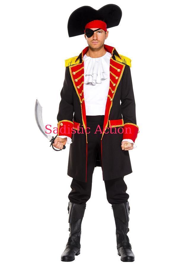 【即納】MUSIC LEGS Pirate Captain 【ハロウィンコスチューム】【MUSIC LEGS (ストッキング、ランジェリー、コスチューム)】【ML-CO-76027】