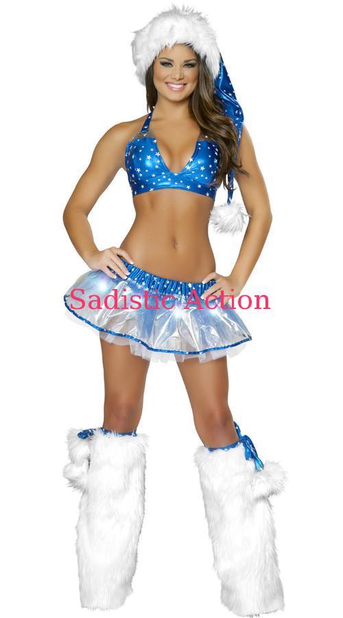 【即納】J. Valentine Silver Star Skirt and Top Set 【クリスマスコスチューム】【J Valentine(ダンスウェア、衣装、コスチューム、小物)】【JV-CR-1031】