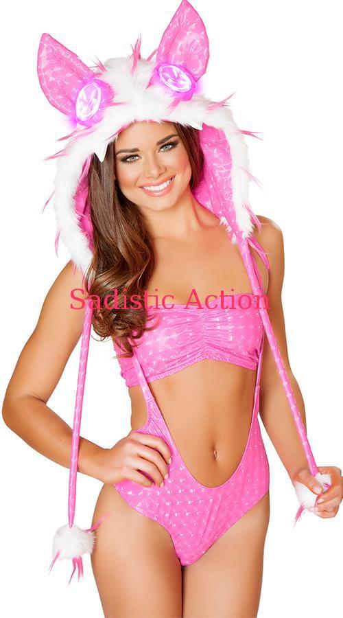 J 豊富な品 Valentine Spiked Fur Light-Up Hood ライトアップファーフード WHITE HOT PINK 注 フード単品販売です フード以外は付いていません JV-ACC-SF113-WH ハット コスチューム 衣装 ダンスウェア 新着セール 目の部分がスイッチでライトアップしま 小物 H.PI 即納 ハロウィンコスチューム コスチュームアクセサリー 帽子