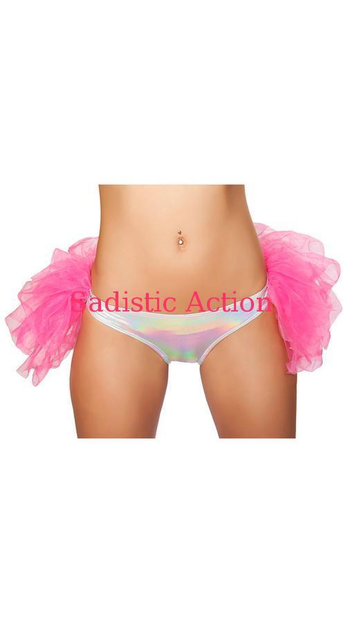 【即納】ROMA Shorts with Attached Half Petticoat 【ROMA (ダンスウェア、衣装、コスチューム、小物)】【ボトム・スカート】【アンダーショーツ・フリルショーツ】【RM-DW-SH3254-SV/H.PI】