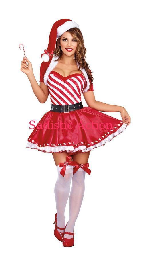 【即納】Dreamgirl Candy Cane Cutie Costume 【クリスマスコスチューム】【Dreamgirl(コスチューム、ランジェリーー、フェティッシュ)】【DG-CR-10325】