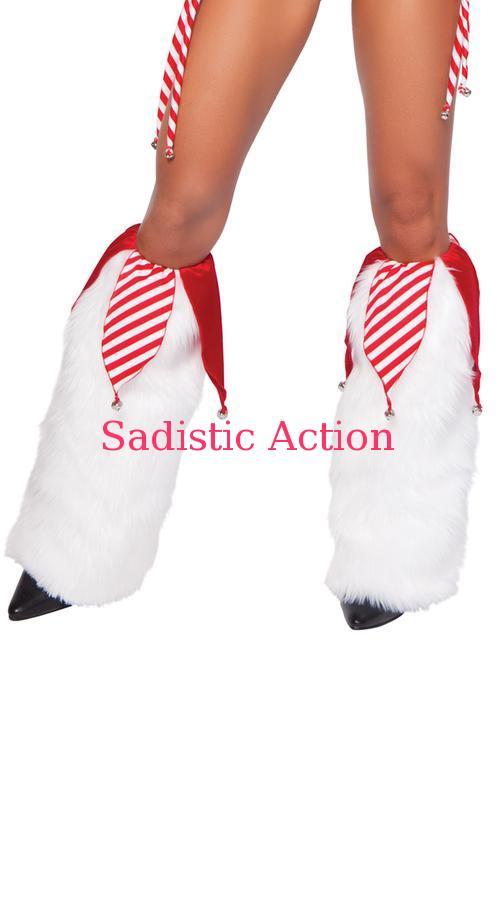 【即納】J Valentine Jingle Bell Legwarmers 【コスチュームアクセサリー】【クリスマスコスチューム】【J Valentine(ダンスウェア、衣装、コスチューム、小物)】【レッグウォーマー】【JV-CR-1018SC】