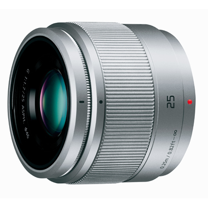 【エントリーでポイント5倍】パナソニック(PANASONIC) H-H025-S LUMIX G 25mm / F1.7 ASPH. シルバー