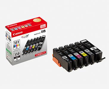 【ネコポス便配送対応商品 パッケージから出して発送します】 キヤノン(Canon) 純正カートリッジ BCI-351XL(BK・C・M・Y・GY)+350XL 6MP