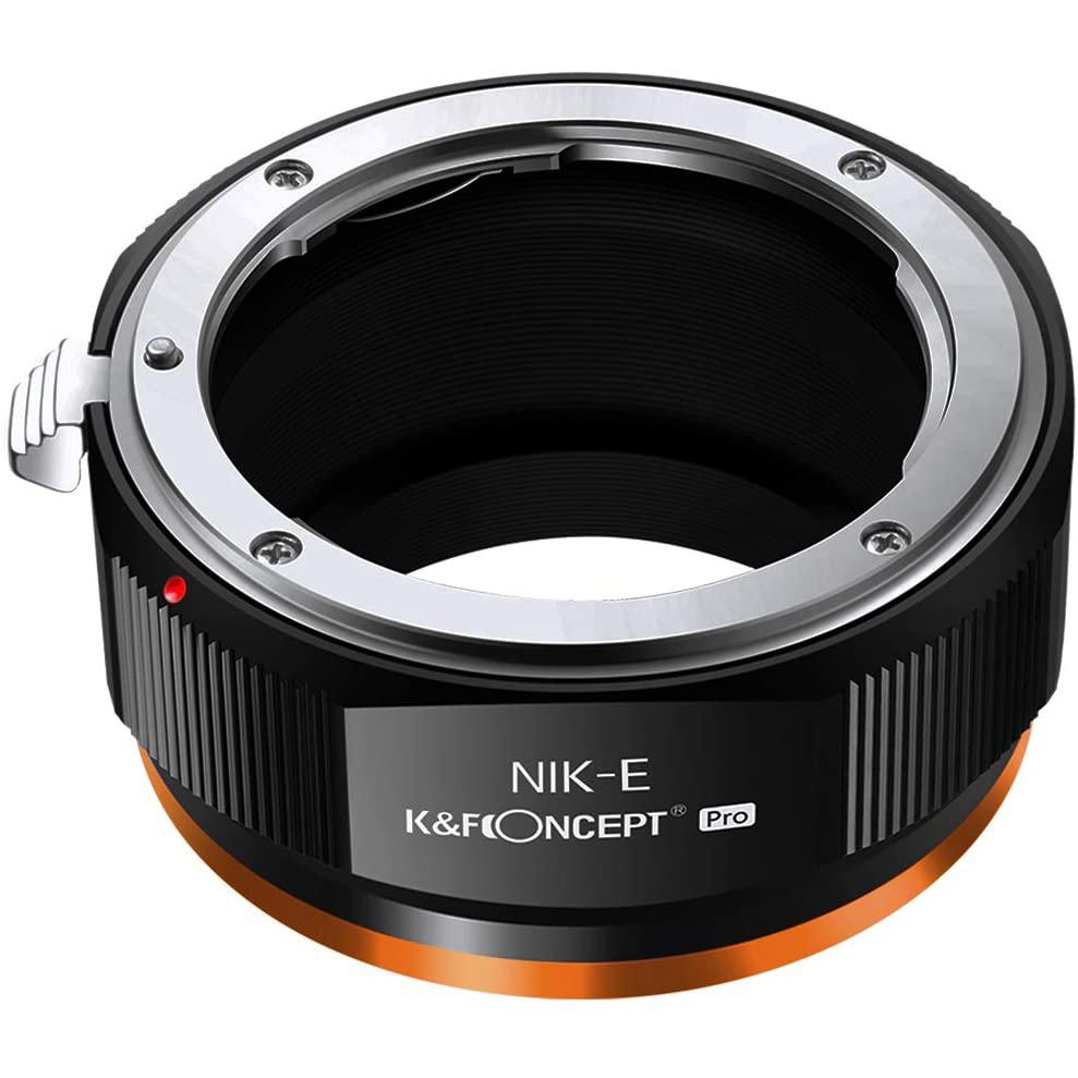 KF 定番キャンバス Concept マウントアダプター KF-NFE.P 超定番 をソニーEマウントに取付け ニコンFマウントレンズ