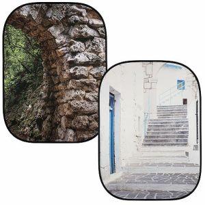ラストライト(lastolite) 折たたみ式柄背景 1.5m×2.1m 石のアーチ/ギリシャ (LL LB5741)