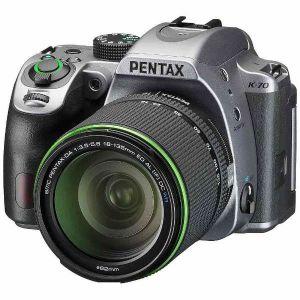 【エントリーでポイント5倍】ペンタックス(PENTAX) K-70 18-135WR レンズキット シルキーシルバー