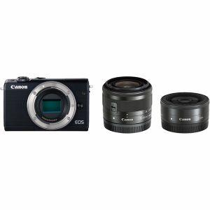 【エントリーでポイント5倍】キヤノン(Canon) ミラーレス一眼 EOS M100 ダブルレンズキット ブラック