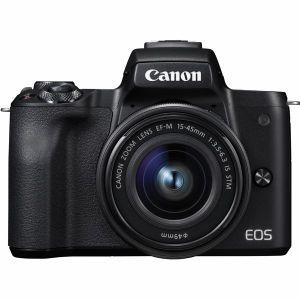 【エントリーでポイント5倍】キヤノン(Canon) ミラーレス一眼 EOS Kiss M EF-M15-45 IS STM レンズキット ブラック