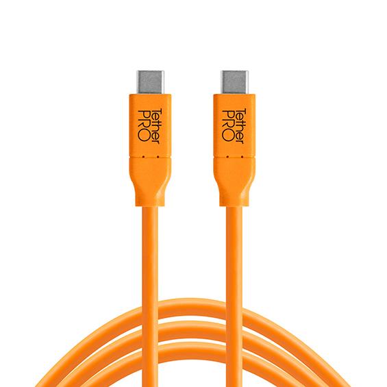 TETHER TOOLS(テザーツールズ) テザープロ USB-C to USB-C (300cm) オレンジ