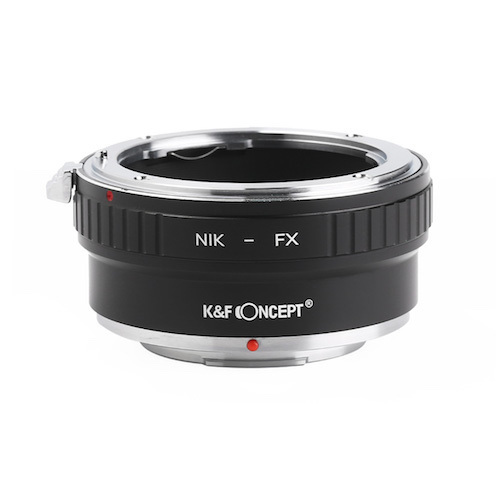 新品 KF Concept マウントアダプター ハイクオリティ KF-NFX2 ニコンFマウントレンズをフジフイルムXシリーズに取付け