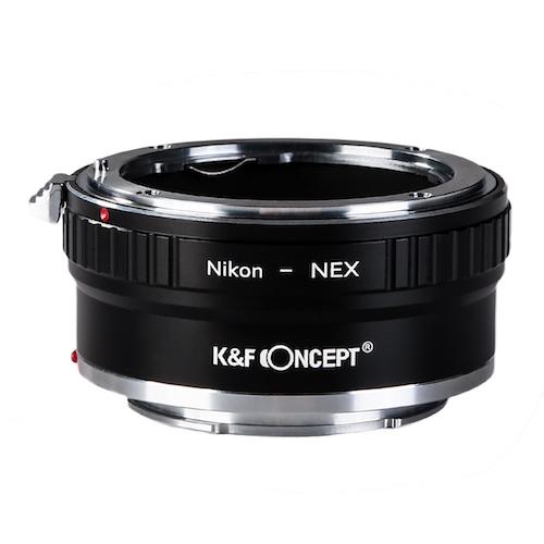安全 KF 再入荷/予約販売! Concept マウントアダプター ニコンFマウントレンズをソニーEマウントに取付け KF-NFE2