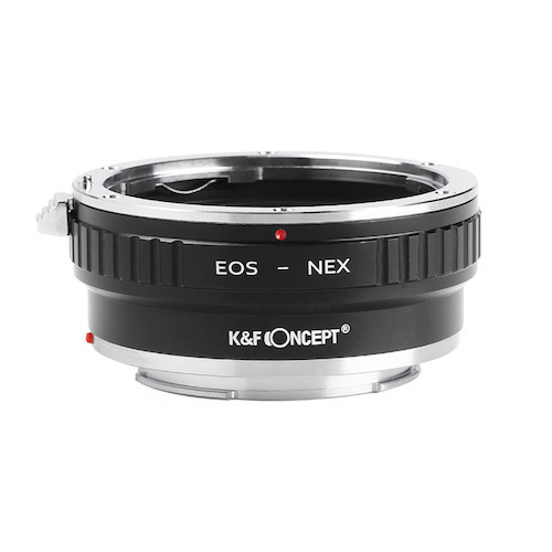 KF 激安通販販売 Concept マウントアダプター キヤノンEFマウントレンズをソニーEマウントに取付け 信憑 KF-EFE2