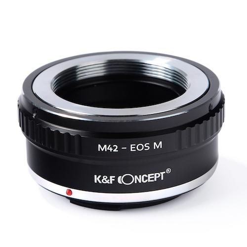 KF Concept 5☆大好評 マウントアダプター M42マウントレンズをキヤノンEF-Mマウントボディに取付け KF-42EM 上等