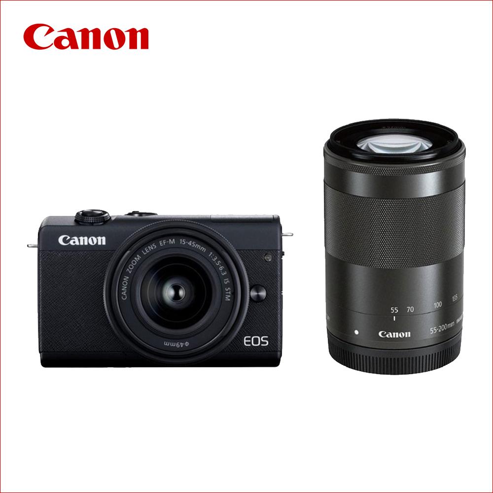 キヤノン(Canon) ミラーレス一眼 EOS M200 ダブルズームレンズキット ブラック