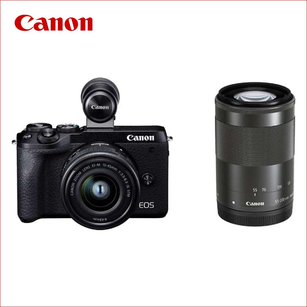 キヤノン(Canon) ミラーレス一眼 EOS M6 Mark II ダブルズームEVFキット ブラック
