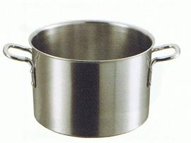 半寸胴鍋 三層クラッド ビストロ(蓋なし)24cm