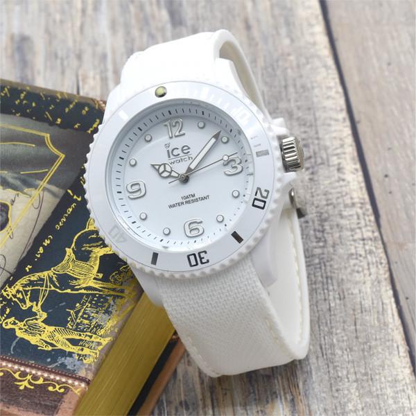 防水 アイスウォッチ ICE-WATCH ICE Sixty nine ホワイト 40mm ミディアムサイズ シリコン メンズ 時計 レディース 女性 プレゼント 貯金箱 BOX プレゼント BOX