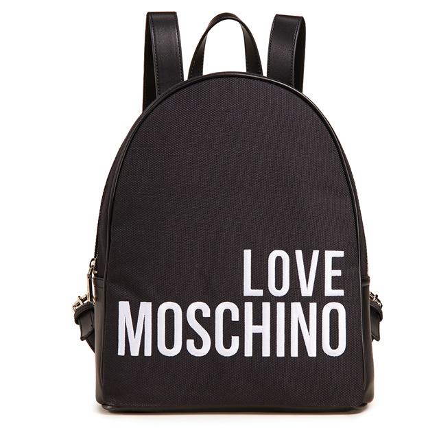 LOVE MOSCHINO ラブモスキーノリュック バックパック モスキーノ バッグ ブランド リュック ブラック キャンバス 大きめ バッグ 大容量 ブランド バッグ レディース ハート 旅行 一泊用