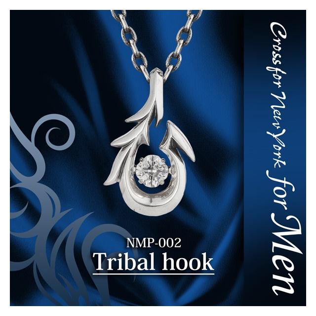 ダンシングストーン Dancing Stoneシリーズ メンズネックレス Tribal hook クロスネックレス