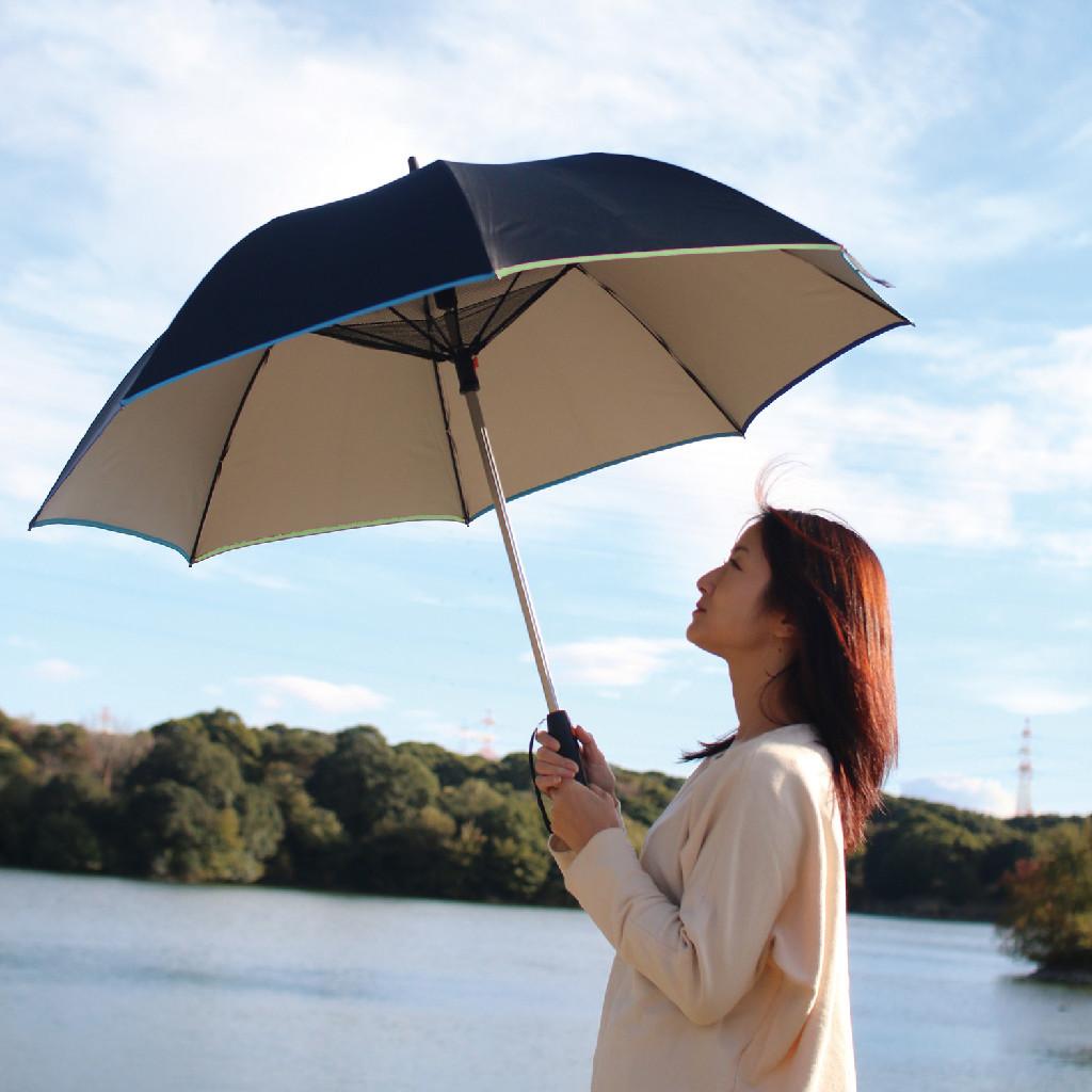 扇風機付き日傘 遮光 送風 晴雨兼用 UV対策 暑さ対策 ポータブル扇風機 コンパクト 扇風機 手持ち シルバーコーティング 冷感 ひんやり 送料無料