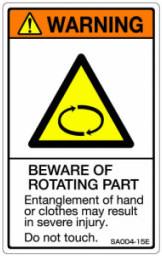 5シート販売 ISO警告ラベル縦型 SA 英文 祝日 SA004-15E ショップ で5シートです 縦80mm横50mm 個数→1 1シート5枚付 ご注文の
