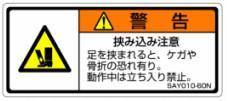 1シート販売 SALE開催中 ISO警告ラベル横型 SAY 和文 1シート5枚付 爆買い送料無料 SAY010-60N 縦30mm横70mm