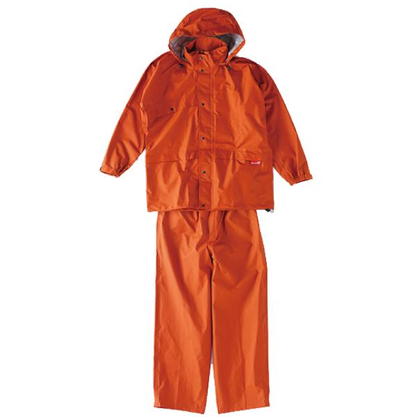 ニューグランドスラムレイン オレンジ ♯8200【レインスーツ・雨具・雨合羽】