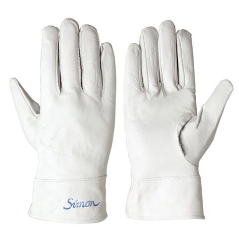 シモン 牛本革手袋 CG-715 ストレート SIMON 作業用 10双入