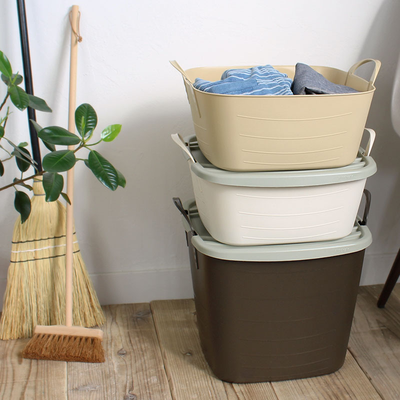 [stacksto,] baquet M Short size 12.5L - Storage Basket ※Lid(on baquet)is sold separately
