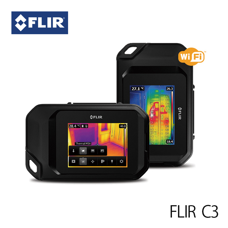 赤外線サーモグラフィ フリアー C3 (日本正規品) WiFi対応 FLIR C3 サーモグラフィカメラ 建物検査 冷暖房 空調設備 断熱チェック ウイルス対策